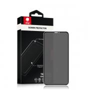 Защитное стекло для iPhone X / XS / 11 Pro Ainy Full Screen 0.25 мм Анти-шпион Black