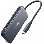 Адаптер Anker Premium 5-in-1 USB-C Hub Black