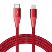 Кабель Anker USB-C to Lightning Cable 1m Red