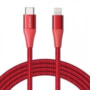 Кабель Anker Powerline+ II USB-C to Lightning 1.8m Red