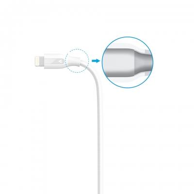 Укрепленный кабель Anker PowerLine+ Lightning to USB Cable 1.8м Белый