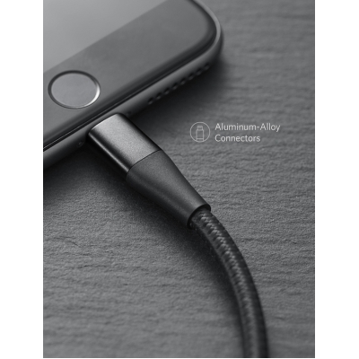 Кабель Anker PowerLine+ II Lightning to USB Черный