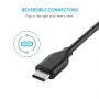 Усиленный кабель Anker PowerLine USB-C to USB 3.0 (3ft / 0.9m) Черный