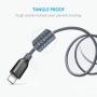 Усиленный кабель Anker PowerLine+ USB-C to USB 3.0 (3ft / 0.9m) A8168HA1 Черный