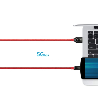 Кабель Anker PowerLine+ USB-C to USB 3.0 3ft / 0.9м Красный
