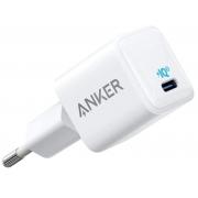 Сетевое зарядное устройство Anker PowerPort 3 Nano 18W USB-C White