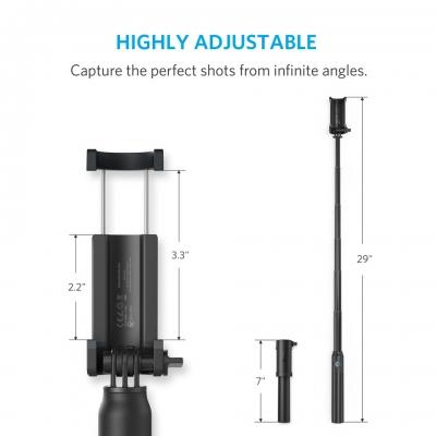 Компактный монопод Anker Bluetooth Selfie Stick Черный