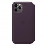 Apple iPhone 11 Pro Leather Folio Case Aubergine