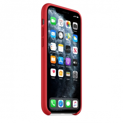 Чехол Apple iPhone 11 Pro Silicone Case Красный