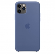 Apple iPhone 11 Pro Silicone Case Linen Blue