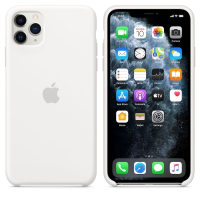 Чехол Apple iPhone 11 Pro Max Silicone Case Белый