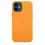 Кожаный чехол Apple MagSafe для iPhone 12 mini Золотой апельсин