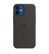 Apple iPhone 12 mini Silicone Case with MagSafe Black