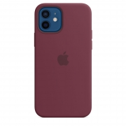 Apple iPhone 12 / 12 Pro Silicone Case with MagSafe Plum