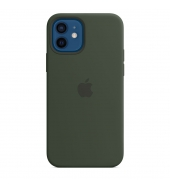 Apple iPhone 12 / 12 Pro Silicone Case with MagSafe Cypress Green