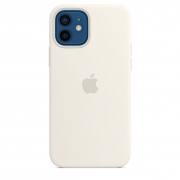 Apple iPhone 12 / 12 Pro Silicone Case with MagSafe White