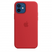 Apple iPhone 12 / 12 Pro Silicone Case with MagSafe (PRODUCT)RED