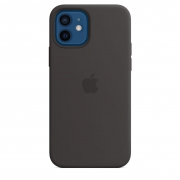 Apple iPhone 12 / 12 Pro Silicone Case with MagSafe Black