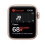 """Apple Watch SE, 40 мм, корпус из алюминия золотого цвета, спортивный ремешок цвета """"розовый песок"""" MYDN2RU/A"""