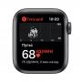 """Apple Watch SE, 40 мм, корпус из алюминия цвета """"серый космос"""", спортивный ремешок черного цвета MYDP2RU/A"""