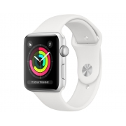 Apple Watch Series 3 38mm Silver Aluminum Case with White Sport Band (GPS)