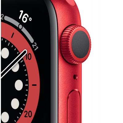 Apple Watch Series 6, 40 мм, корпус из алюминия цвета (PRODUCT)RED, спортивный ремешок красного цвета M00A3UA/A