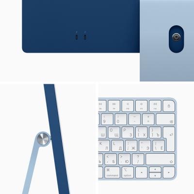 Apple iMac 24 (2021) Retina 4,5K M1 (8C CPU, 7C GPU) / 16 Гб / 256 Гб SSD Синий Z14M000EN RUS