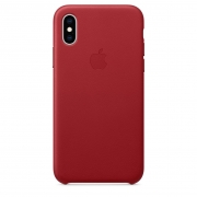 Apple iPhone XS Leather Case (PRODUCT)RED