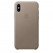 Apple iPhone XS Leather Case Taupe