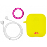 Чехол Case-Mate для AirPods c держателем Lemon Lime Yellow