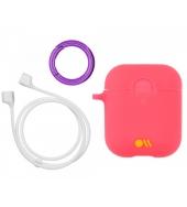 Чехол Case-Mate для AirPods c держателем Living Coral Light Pink