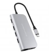 Адаптер HyperDrive POWER 9-in-1 USB-C Hub Silver