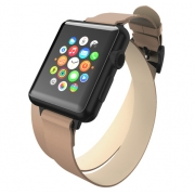 Кожаный ремешок Incipio Reese Double Wrap Watch Band для Apple Watch 42mm Taupe