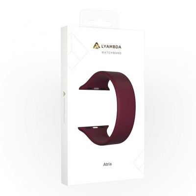 Ремешок Lyambda Atria для Apple Watch 42/44 мм Бордовый