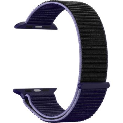 Нейлоновый ремешок Lyambda Vega для Apple Watch 42/44 мм Сине-черный