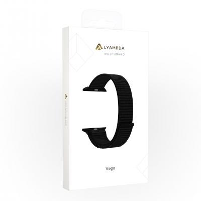 Нейлоновый ремешок Lyambda Vega для Apple Watch 38/40 мм Черный