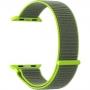 Нейлоновый ремешок Lyambda Vega для Apple Watch 42/44 мм Серый / Зеленый