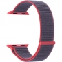 Нейлоновый ремешок Lyambda Vega для Apple Watch 38/40 мм Серый / Розовый