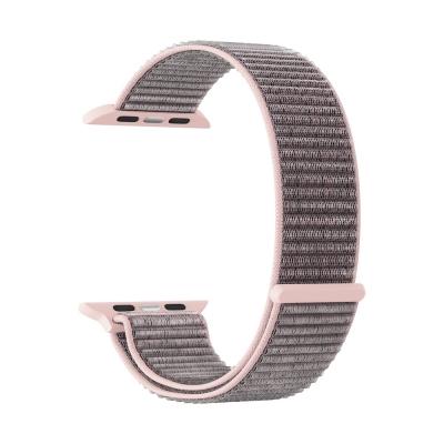 Нейлоновый ремешок Lyambda Vega для Apple Watch 38/40 мм Розовое Золото
