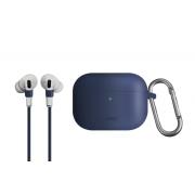 Чехол для Apple AirPods Pro Uniq Vencer Case с держателем Navy Blue