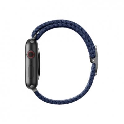 Плетеный ремешок для Apple Watch 38/40мм Uniq ASPEN Strap Braided Синий