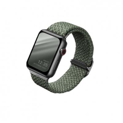 Плетеный ремешок для Apple Watch 38/40мм Uniq ASPEN Strap Braided Зеленый