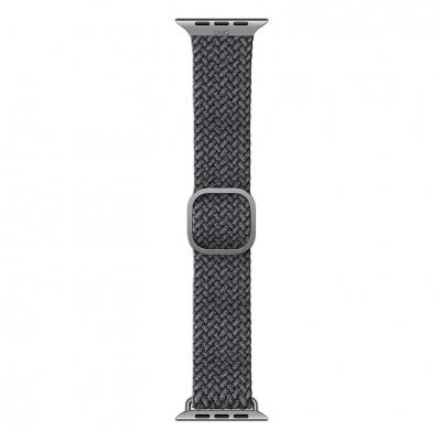Плетеный ремешок для Apple Watch 38/40мм Uniq ASPEN Strap Braided Серый
