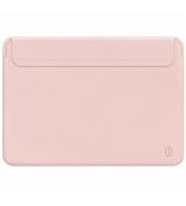 Чехол для MacBook Pro 16 WIWU Skin New Pro 2 Leather Sleeve Pink