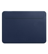 Чехол для MacBook Pro 16 WIWU Skin New Pro 2 Leather Sleeve Blue