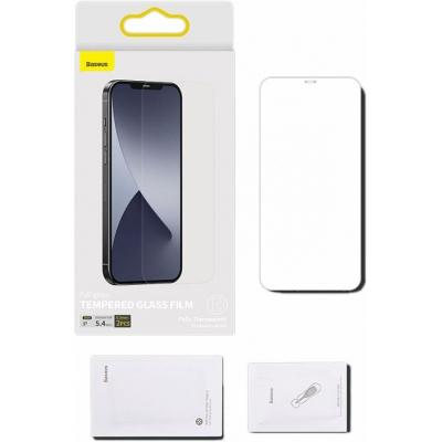 Защитное стекло Baseus Full-Glass Tempered 0.3mm для iPhone 12/iPhone 12 Pro Transparent