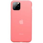 Защитный чехол Baseus Jelly Liquid Silica Gel для iPhone 11 Pro Transparent Red