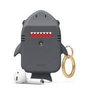 Чехол Elago Shark Silicone Hang case для AirPods Dark Grey