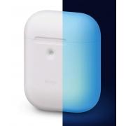 Чехол Elago для AirPods с беспроводной зарядкой Silicone Сase Nightglow Blue