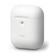 Чехол Elago для AirPods с беспроводной зарядкой Silicone Сase White